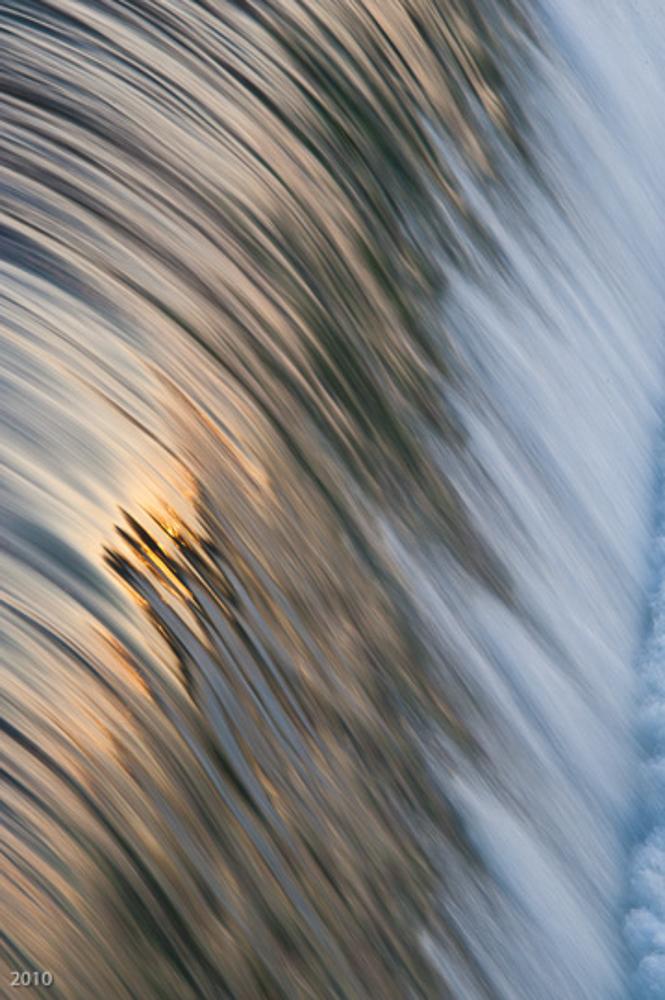 Water over the dam, Geneva, IL, December