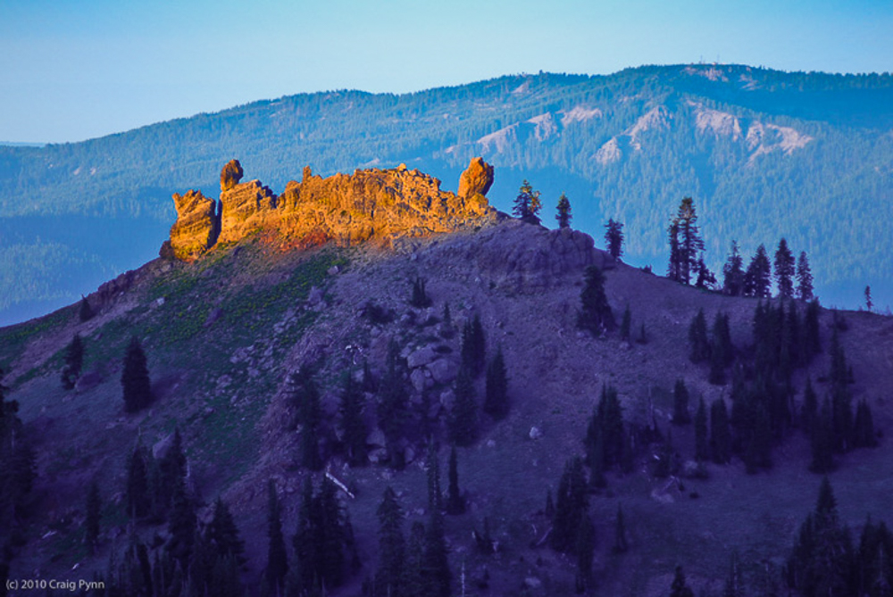 Dawn at Diamond Peak, Lassen National Park, August
