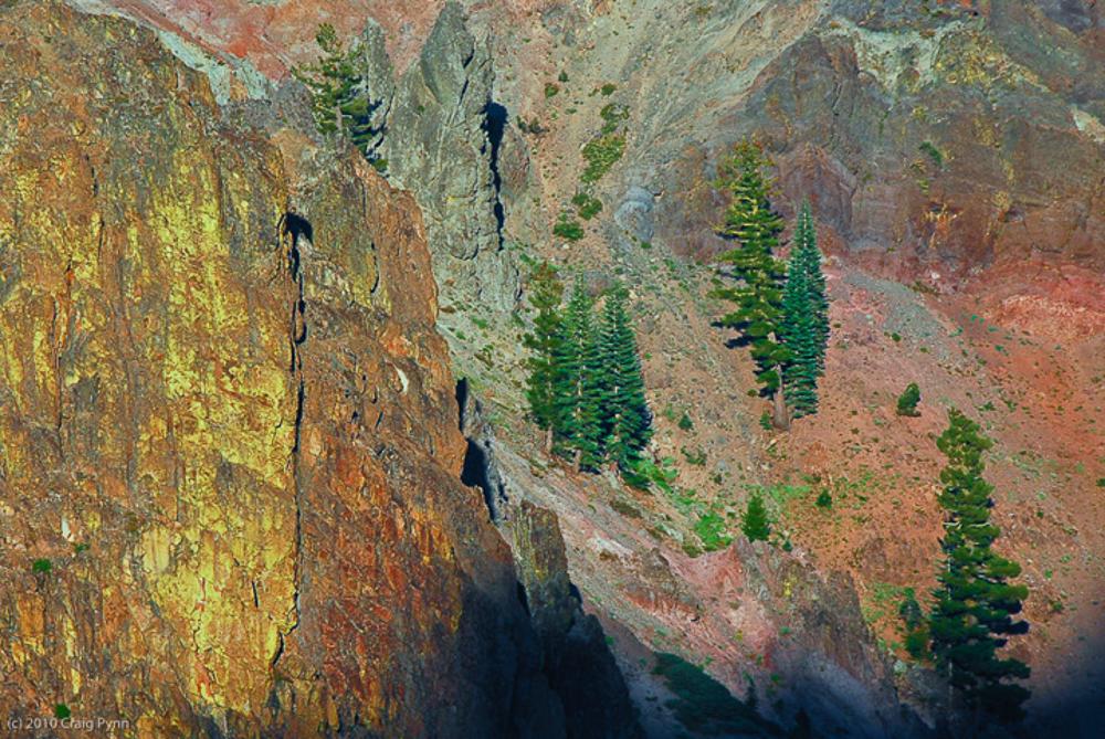 Sulfur Wall, Lassen Volcanic National Park, CA, August