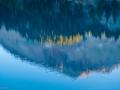 Mt. Lassen reflected in Lake Helen, August