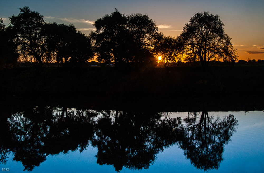 Sunset Reflection: Sacramento River