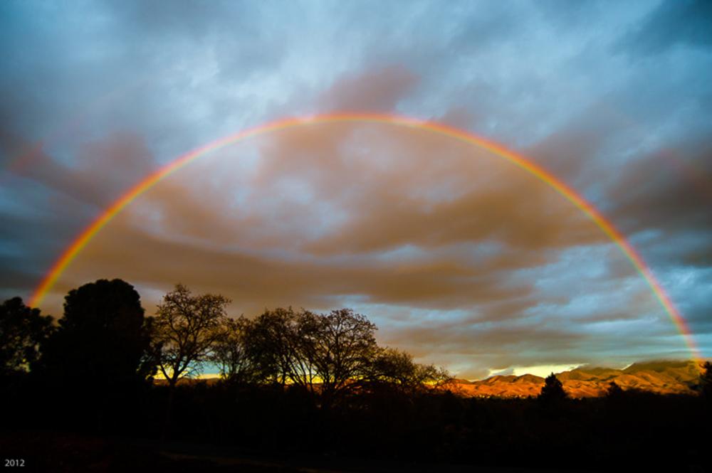 February Rainbow over the Diablo Valley