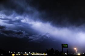 Nighttime Thunderstorm: Weatherford, OK