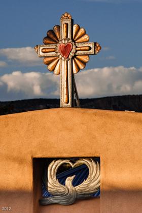 Tin Cross: Santuario de Chimayo, NM