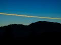 Pre-dawn Contrail; Mt. Diablo