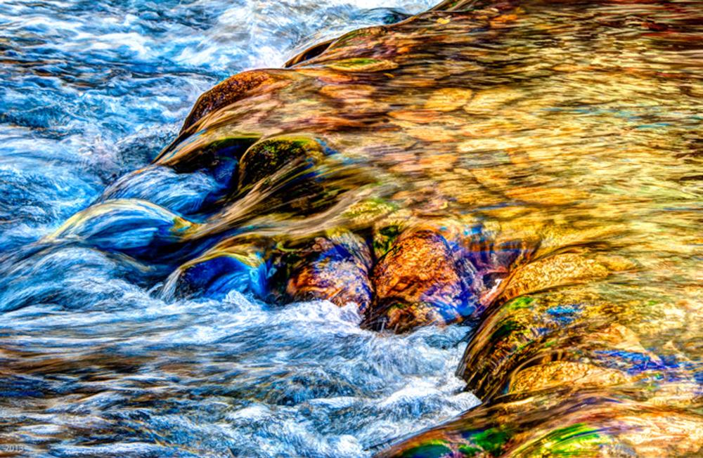Water Over Rocks - Stanislus River