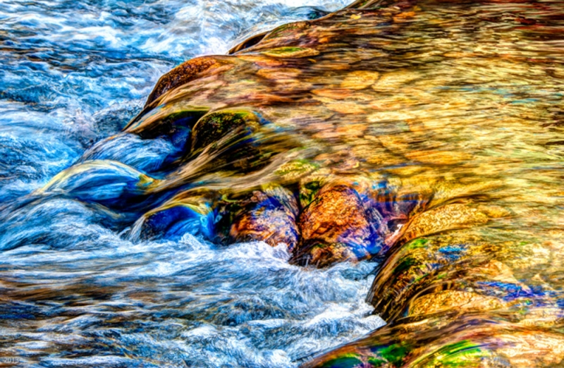 Water Over Rocks - Stanislus River