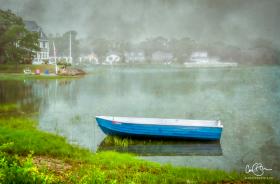 June 19: Rowboat on Broadmarsh River, Wareham MA