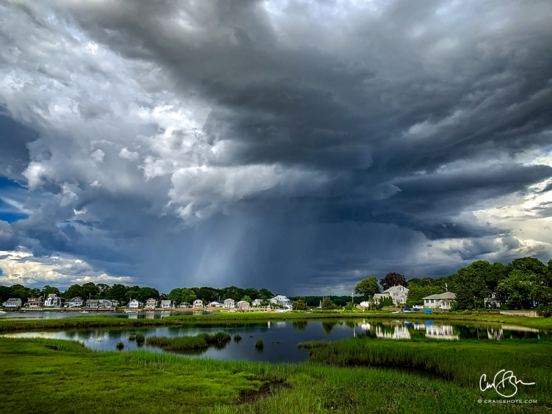 June 22: Storm Clouds Over Broadmarsh River, Wareham MA