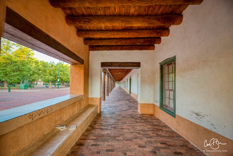 July 17:  Early Morning at the Palace of the Governors, Santa Fe