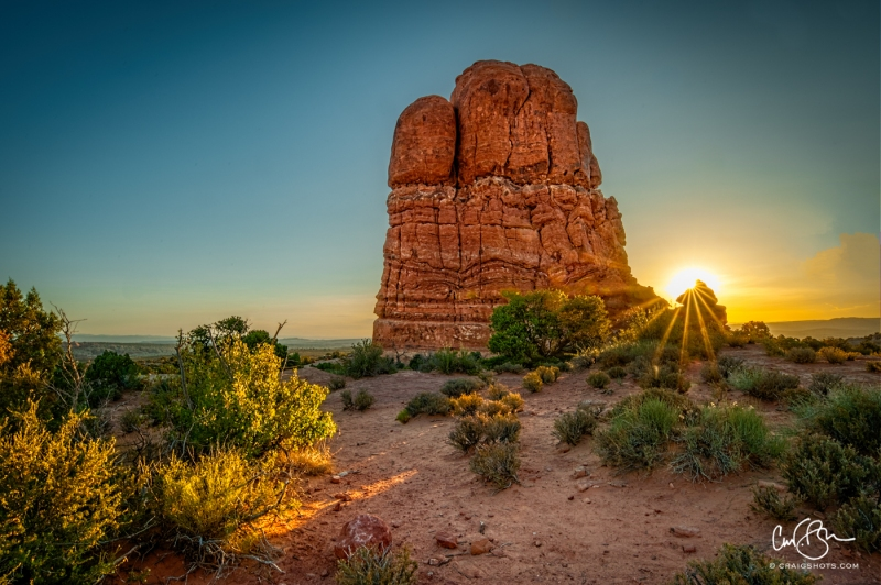 July 19:  Sunrise, Arches National Park