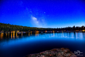 Aug 1: Milky Way at Blue Hour, Pinecrest Lake, CA