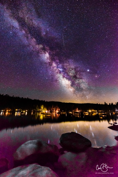 Aug 1: Milky Way, Pinecrest Lake, CA