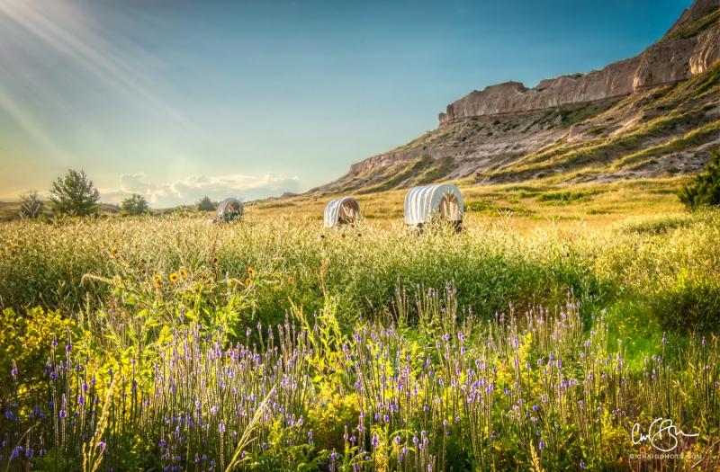 Aug 3: Oregon Trail, Scotts Bluff National Monument, Nebraska