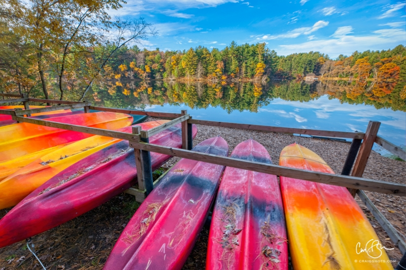 Oct 26: End of Kayak Season, Mirror Lake State Park, Wisconsin