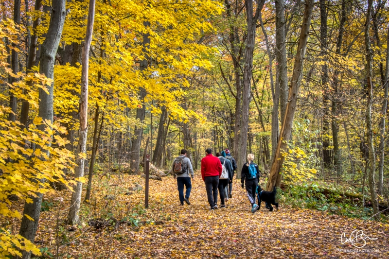 Oct 26: Hikers, Devils Lake State Park, Wisconsin