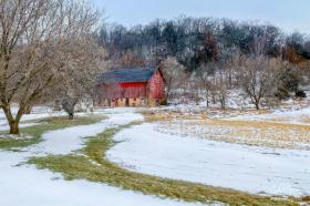 Feb 26: Red Barn Near Sauk City