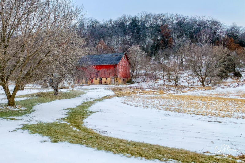 Feb 26: Red Barn Near Sauk City