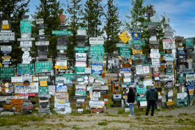 The Alska Highway Sign Post Forest. Watson Lake, Yukon