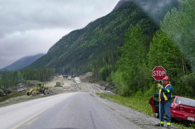 Alaska Highway roadwork.