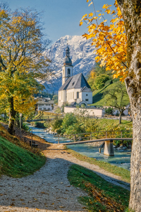 Parish church of St. Sebastian, Ramsau bei Berchtesgaden, Germany