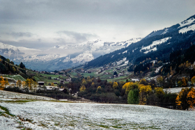 Alpine valley near Kitzbuhel,