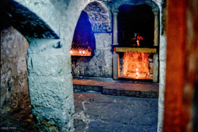 One of many altars in the Church of the Holy Sepulchre.