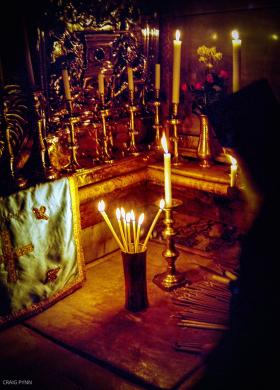 Praying monk, Church of the Holy Sepulchre.