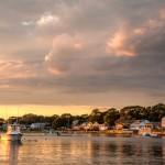Hamilton Beach Moonrise and Sunset