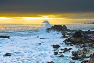 Crashing surf, Pacific Grove, CA