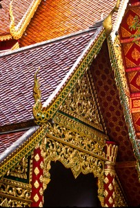 Temple detail, Chaing Mai, Thailand (1997)