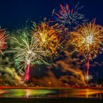 Fireworks & Stars: Hamilton Beach at Night