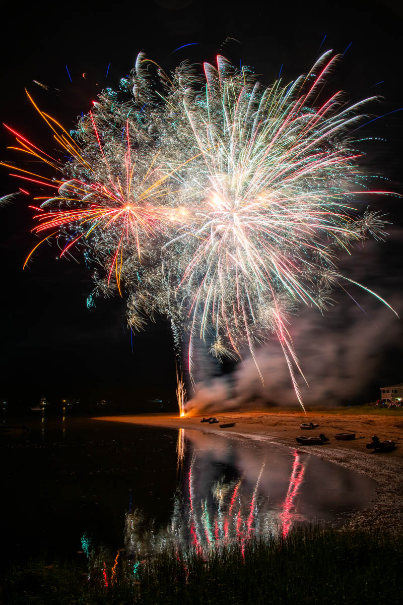 Fireworks at Hamilton Beach — July 4, 2021